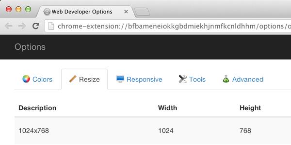 Web Developer for Chrome Installed or Upgraded